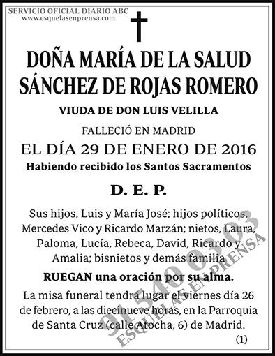 María de la Salud Sánchez de Rojas Romero